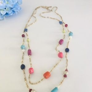 NWOT - Chico's Multiple Color Stone Necklace